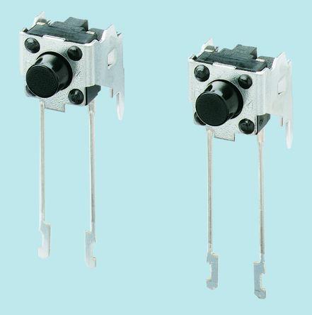 Panasonic Black Tactile Switch, Single Pole Single Throw (SPST) 20 mA @ 15 V dc 4.75mm (5)