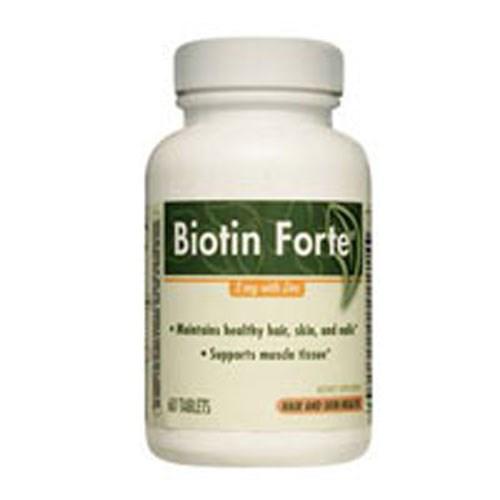 Biotin Forte Zinc 60 tabs by Enzymatic Therapy