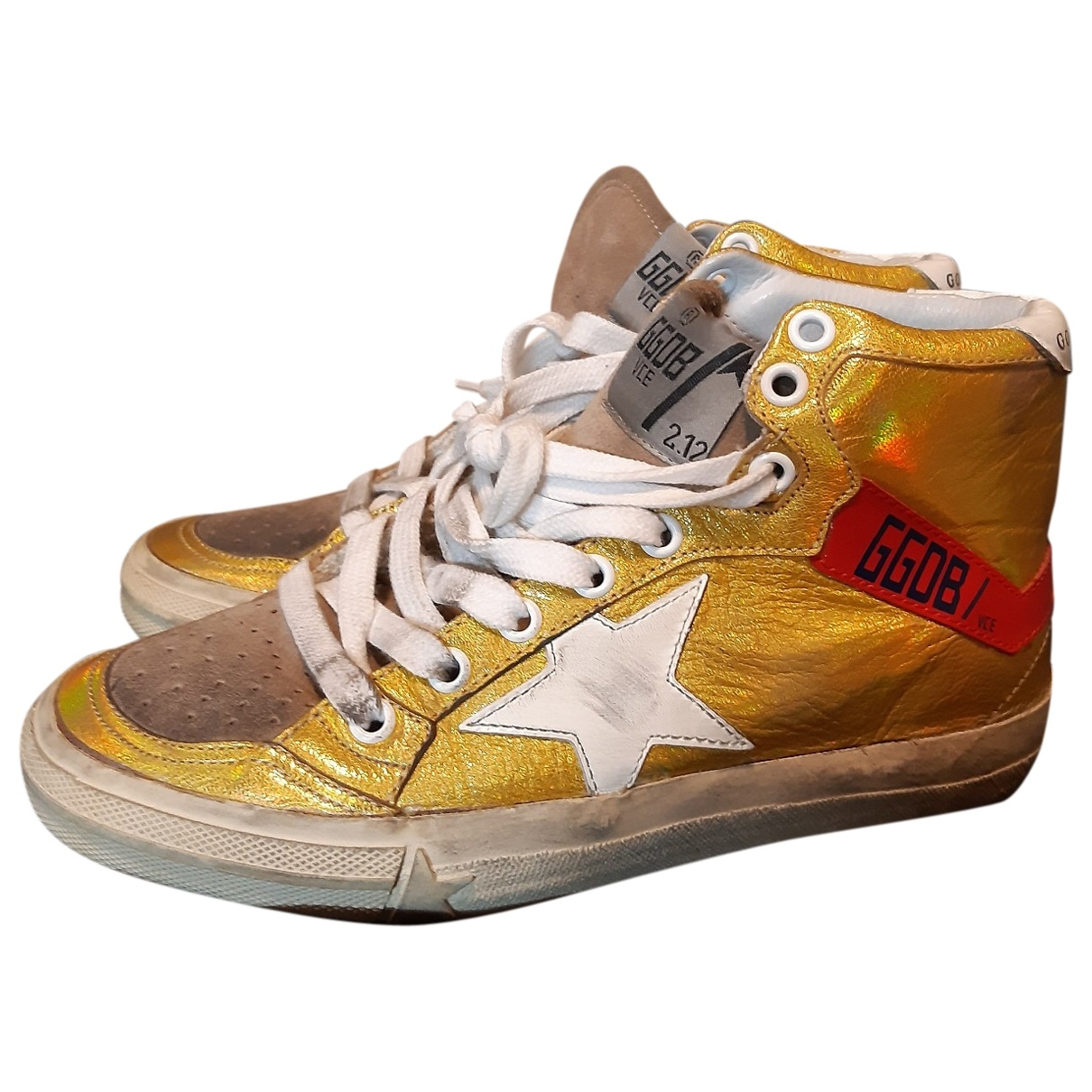 Golden Goose Francy Gold Leather Trainers for Women 35 EU