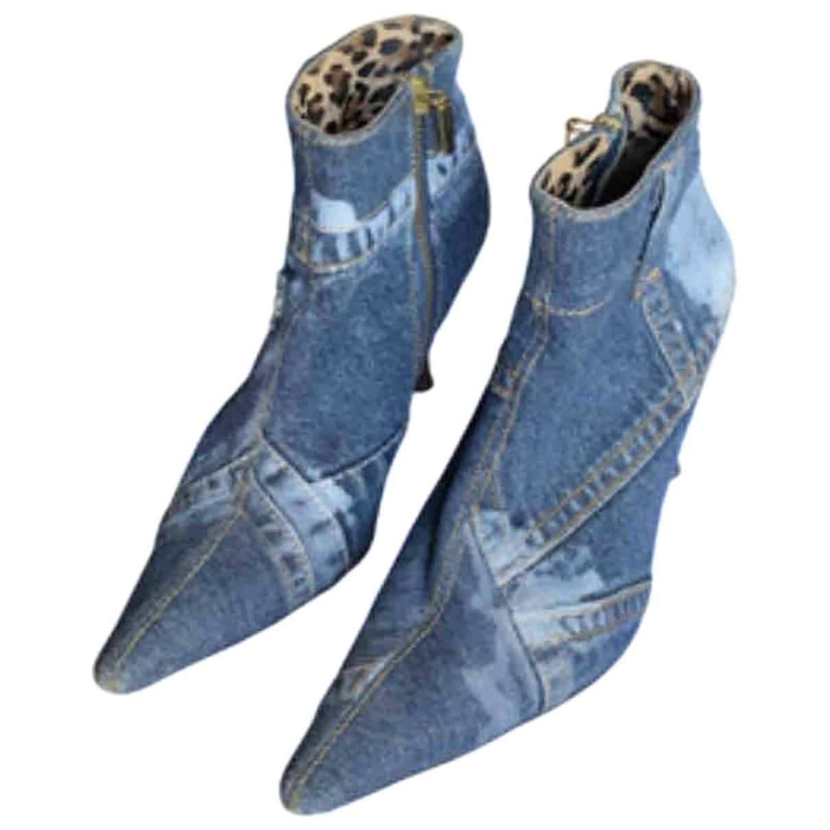 Dolce & Gabbana \N Blue Cloth Boots for Women 36.5 EU