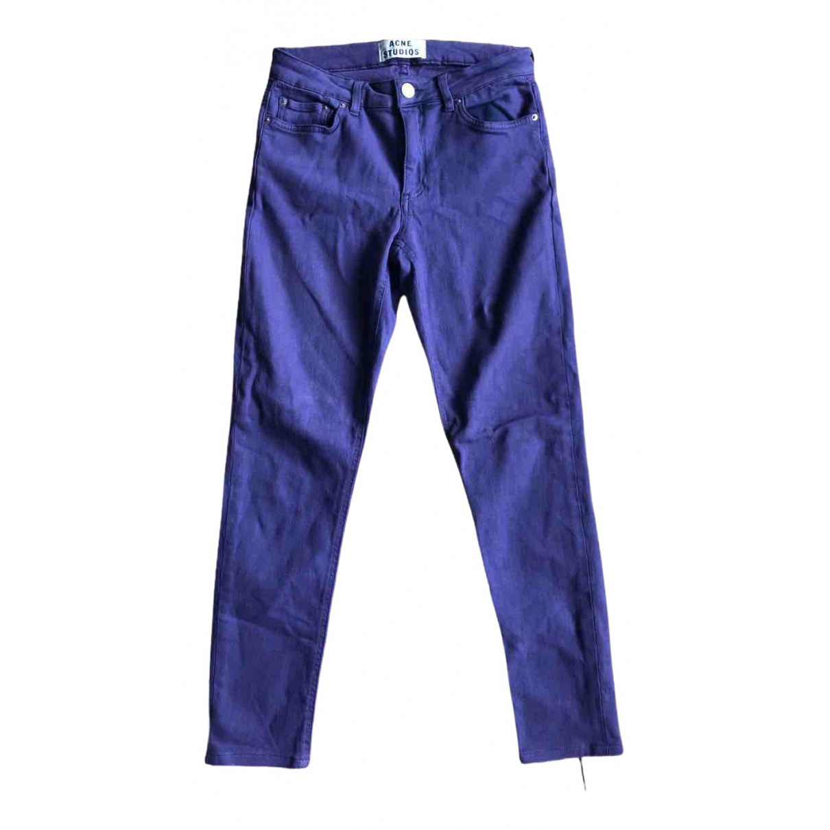 Acne Studios Skin 5 Purple Cotton - elasthane Jeans for Women 28 US