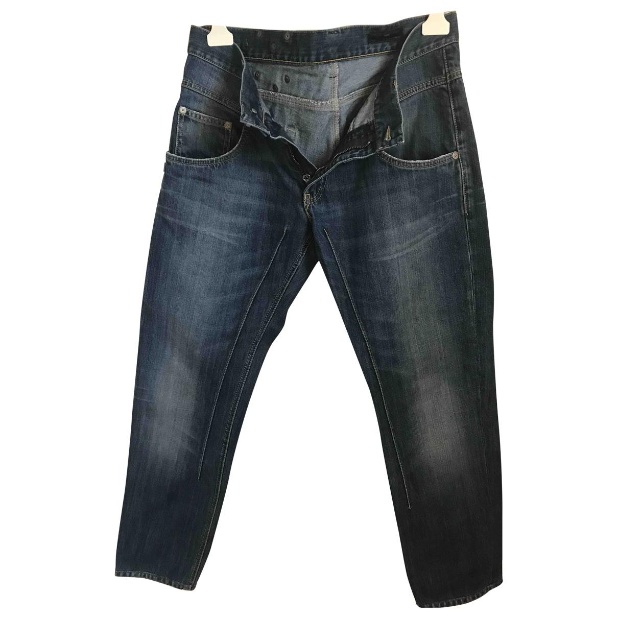 Alessandrini \N Blue Cotton Jeans for Men 34 US