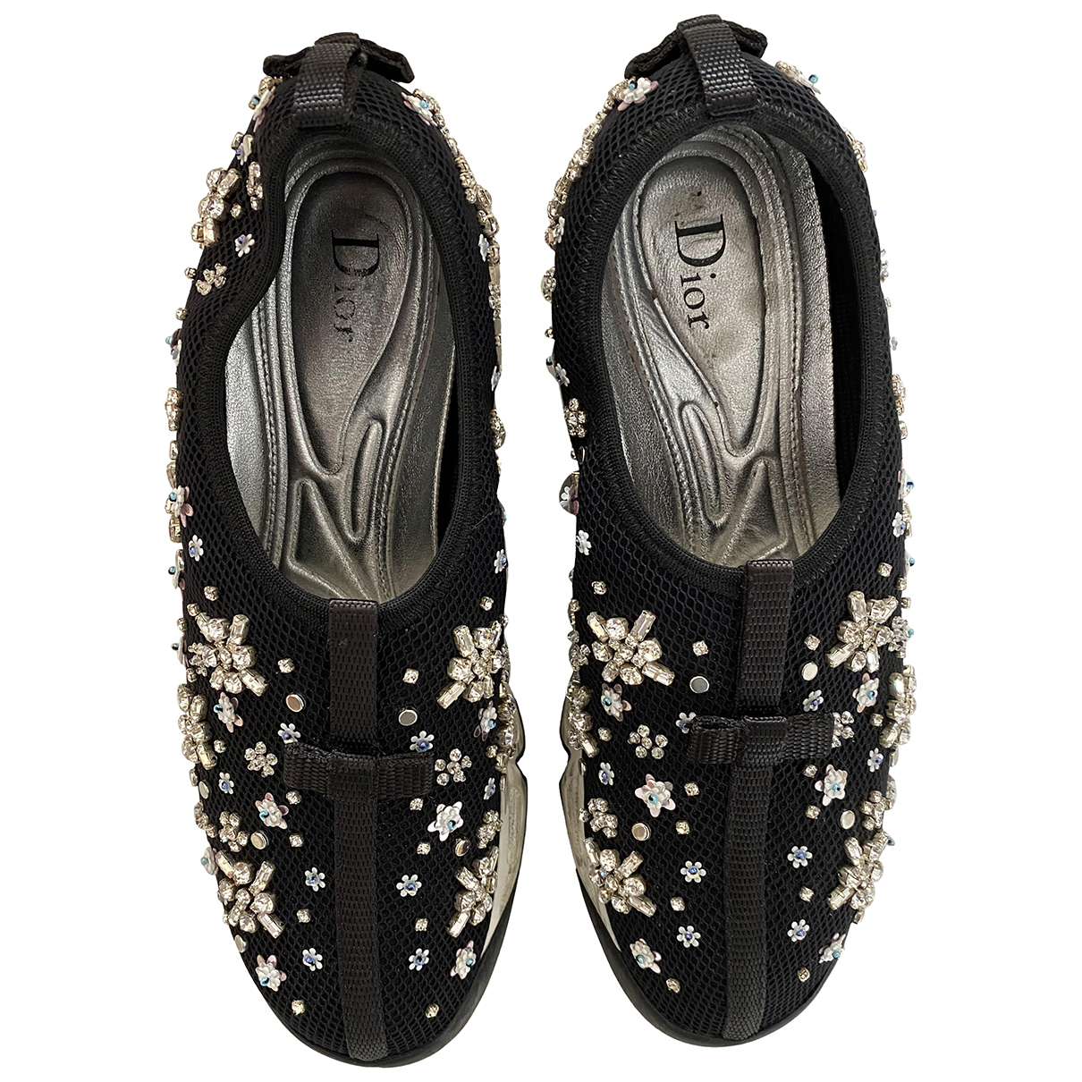 Dior - Baskets Dior Fusion pour femme en toile - noir
