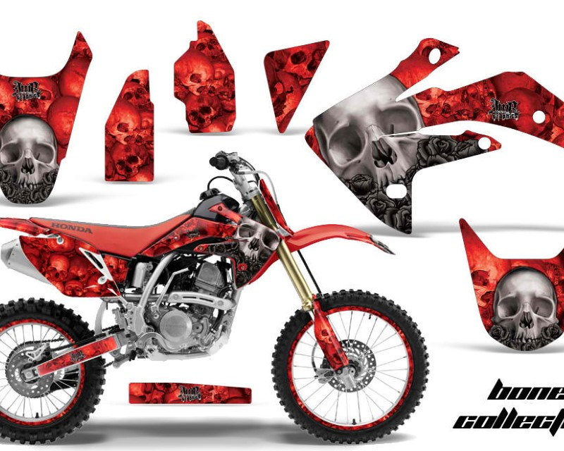 AMR Racing Graphics MX-NP-HON-CRF150R-07-16-BC R Kit Decal Sticker Wrap + # Plates For Honda CRF150R 2007-2016áBONES RED