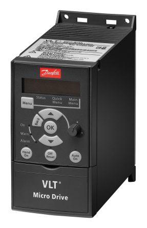 Danfoss Inverter Drive, 3-Phase In, 0 → 200 (VVC+ Mode) Hz, 0 → 400 (U/f Mode) Hz Out 0.37 kW, 230 V, 2.2