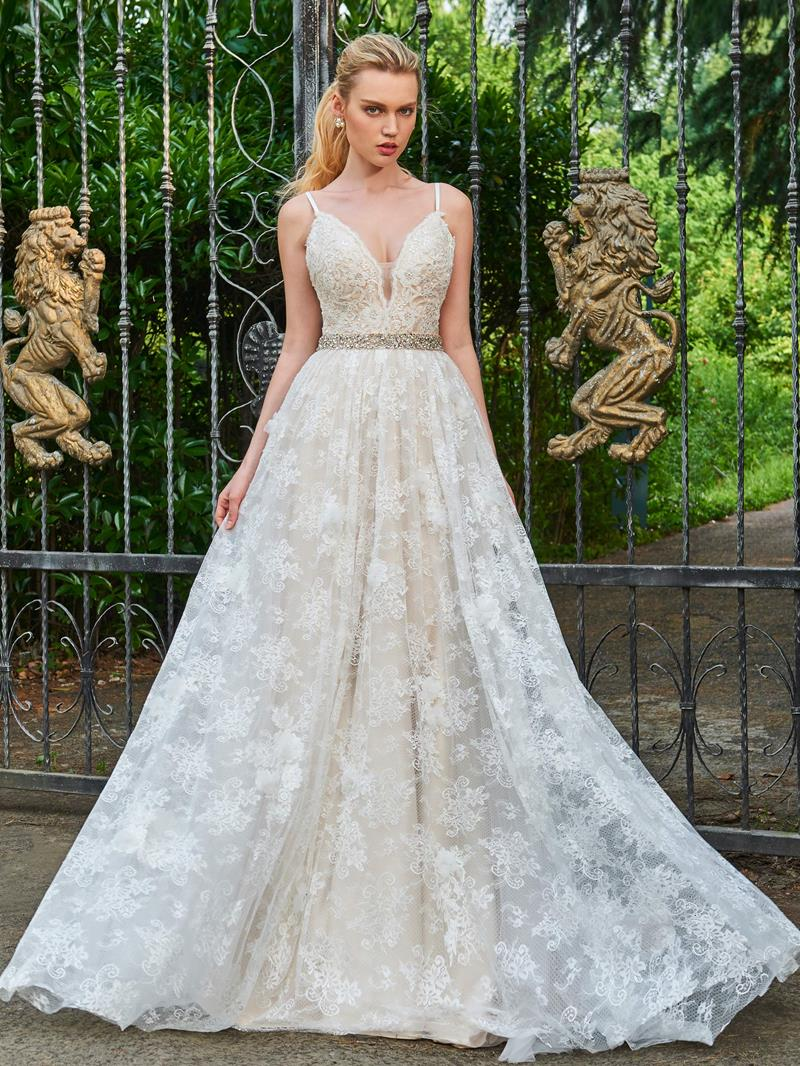 Ericdress A Line Beading Spaghetti Straps Lace Wedding Dress