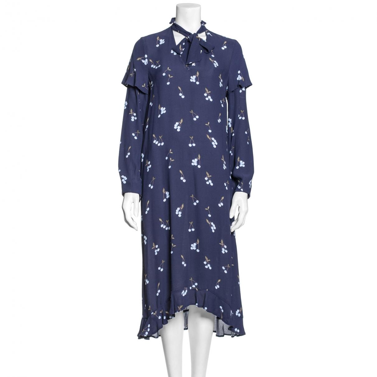 Baum Und Pferdgarten \N Kleid in  Marine Viskose