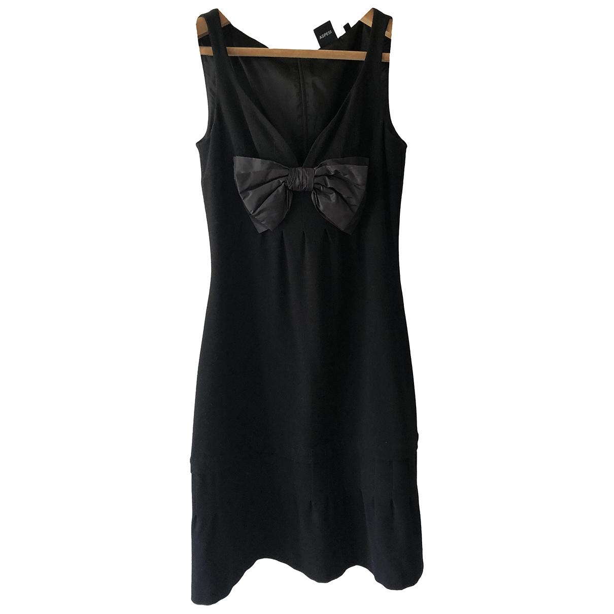 Aspesi - Robe   pour femme en laine - noir