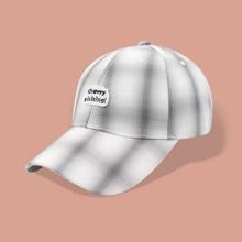 Baseball Kappe mit Karo Muster