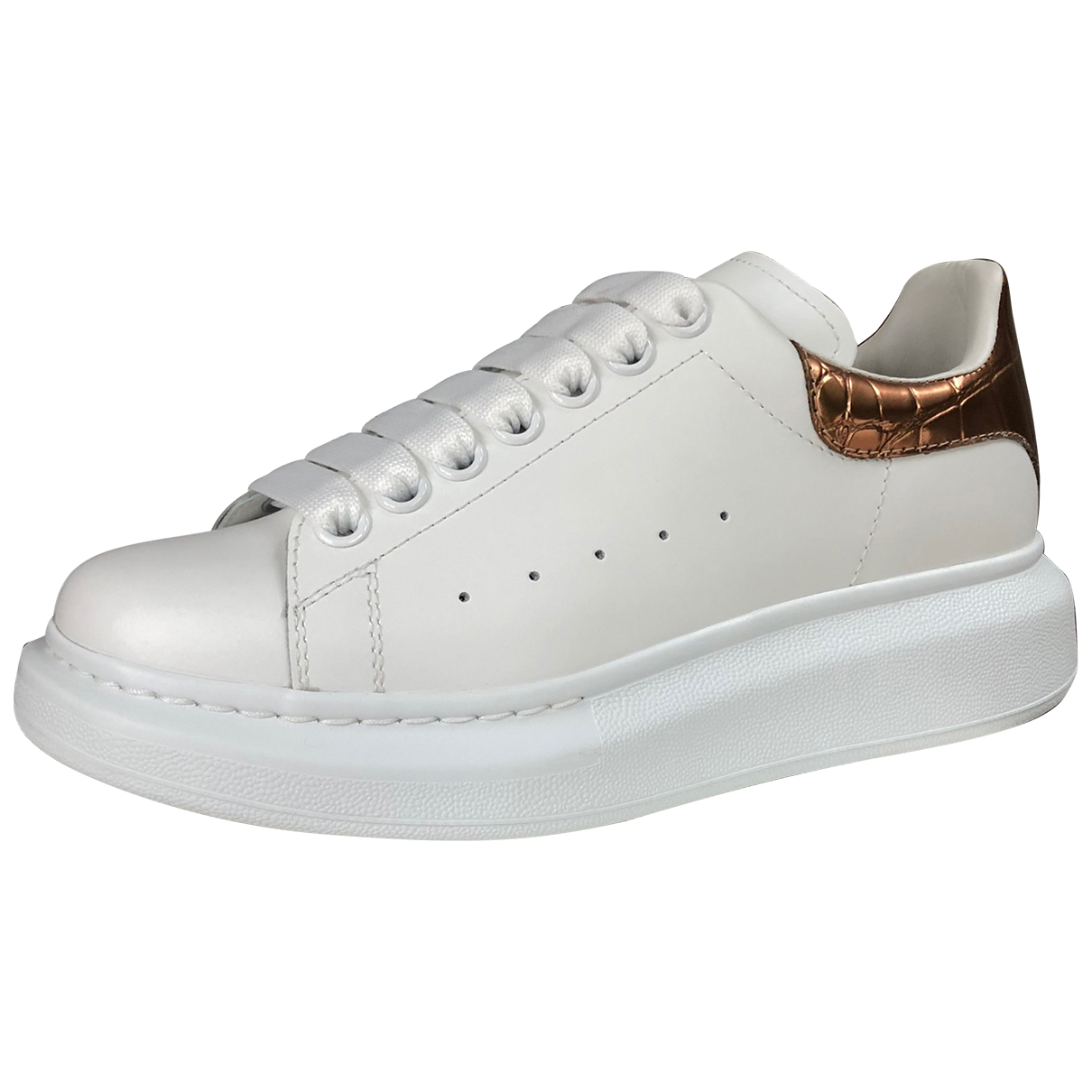 Alexander Mcqueen Oversize White Leather Trainers for Women 36 EU