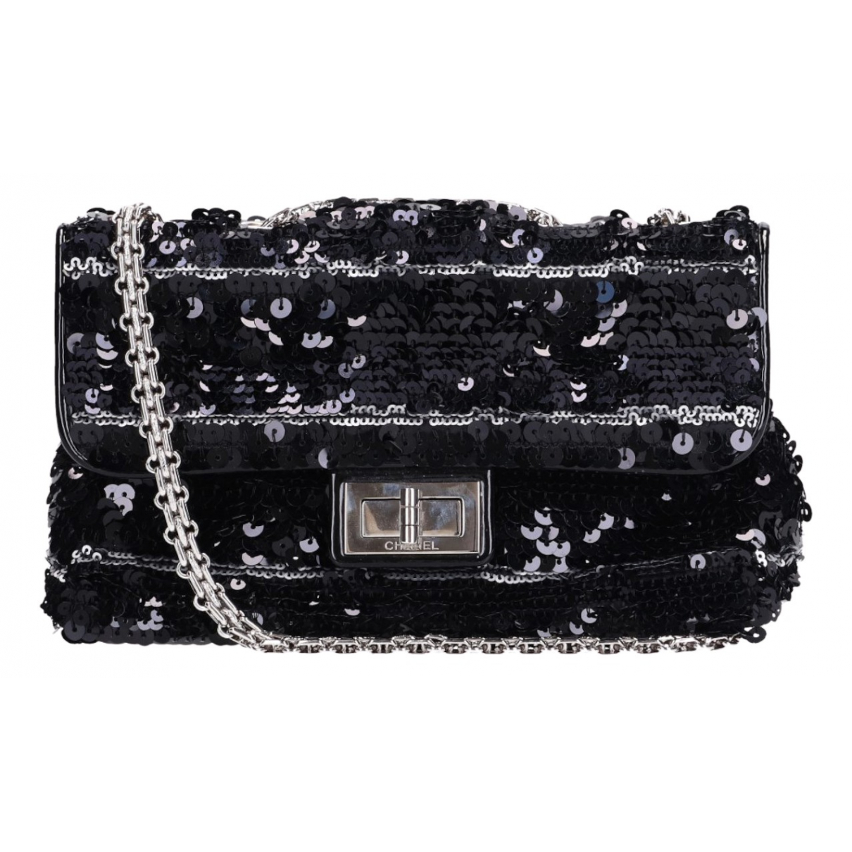 Chanel 2.55 Handtasche in  Marine Mit Pailletten
