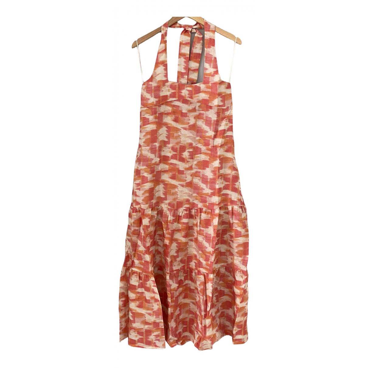 Three Graces London - Robe   pour femme en lin - multicolore