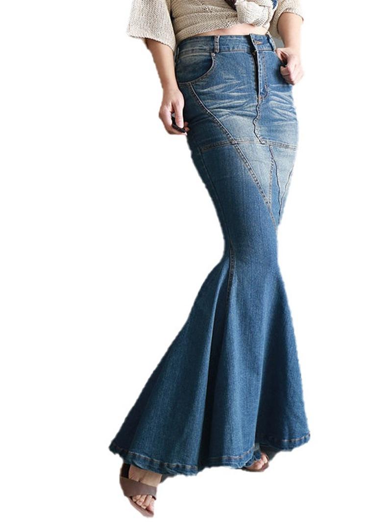 Ericdress Floor-Length Mermaid Zipper Western Women's Skirt