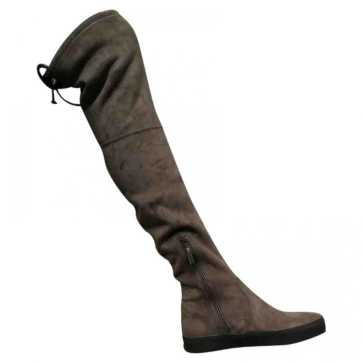 Stuart Weitzman \N Camel Suede Boots for Women 36 EU
