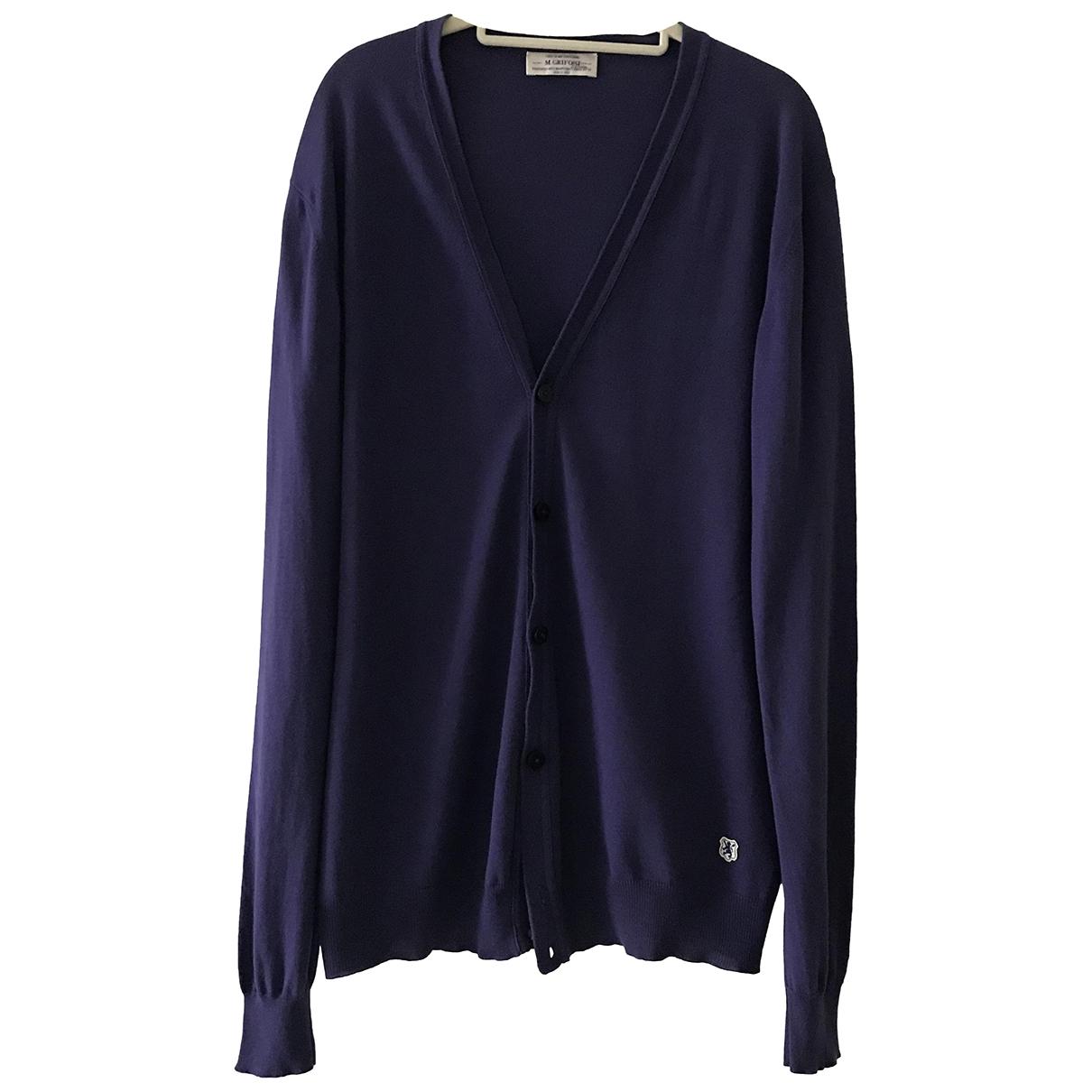Mauro Grifoni \N Purple Cotton Knitwear & Sweatshirts for Men 50 IT