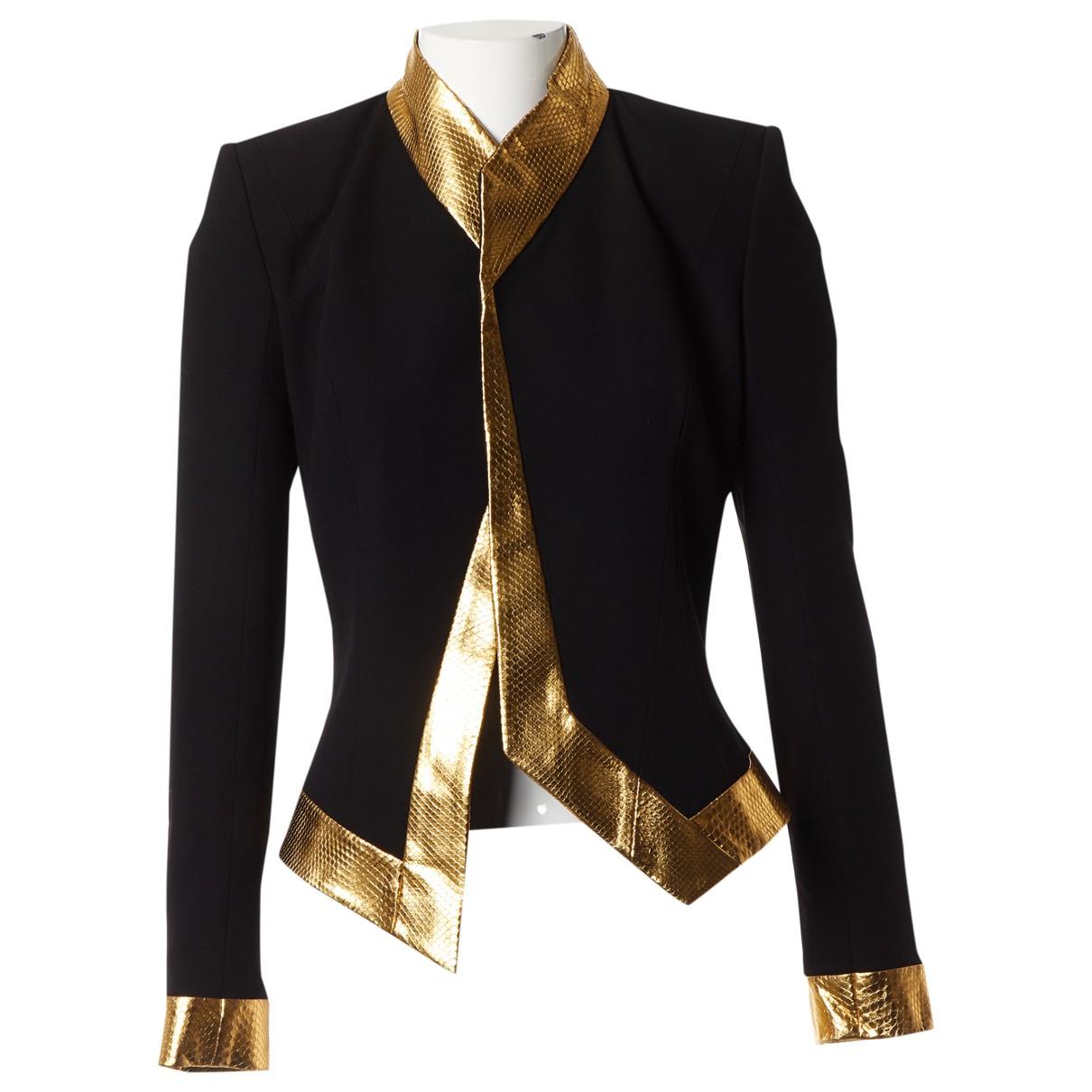 Alexandre Vauthier N Gold Python jacket for Women 36 FR