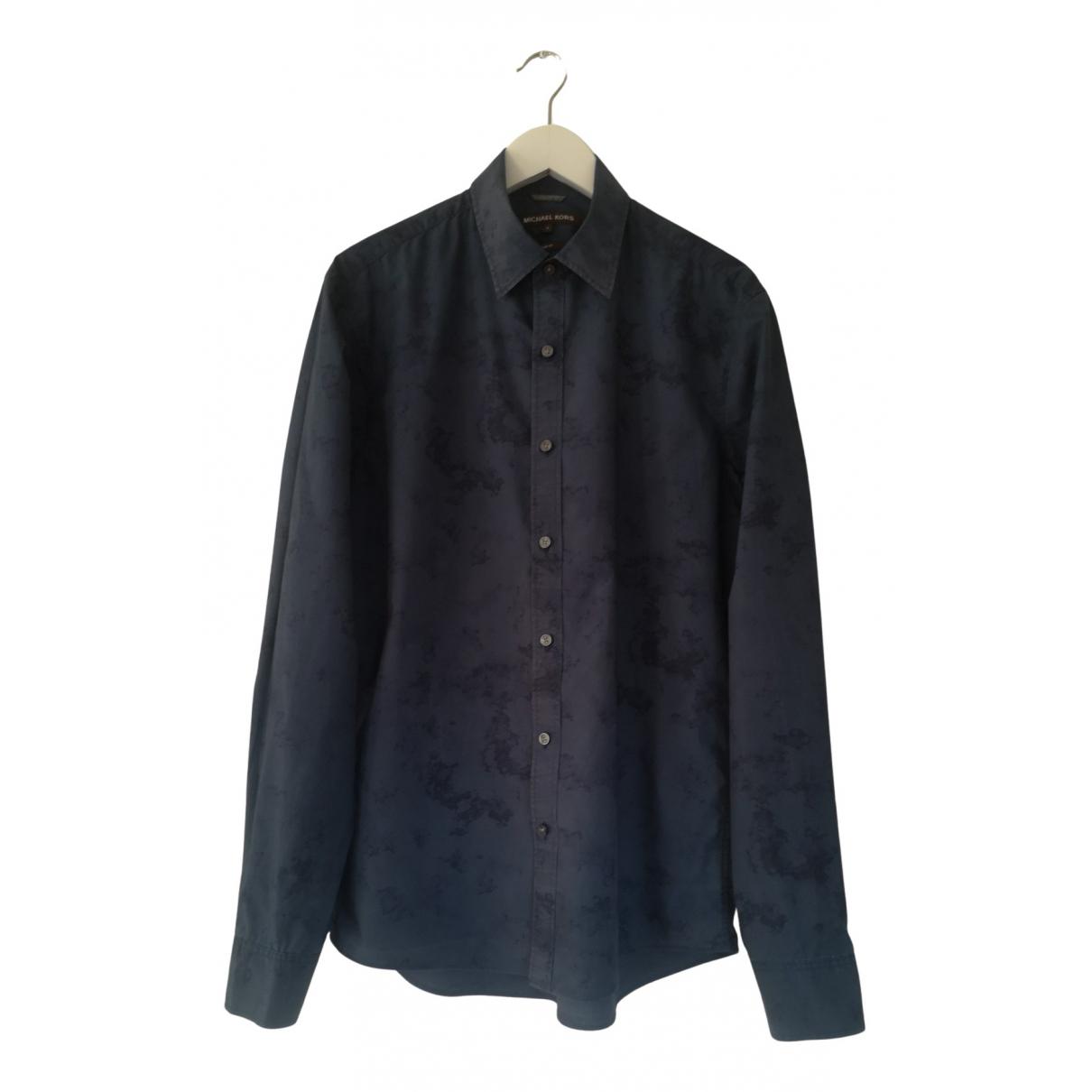 Michael Kors N Navy Cotton Shirts for Men M International