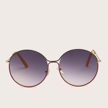 Gafas de sol de hombres de marco metalico redondo