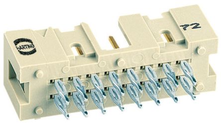 HARTING , SEK 18, 34 Way, 2 Row, Straight PCB Header
