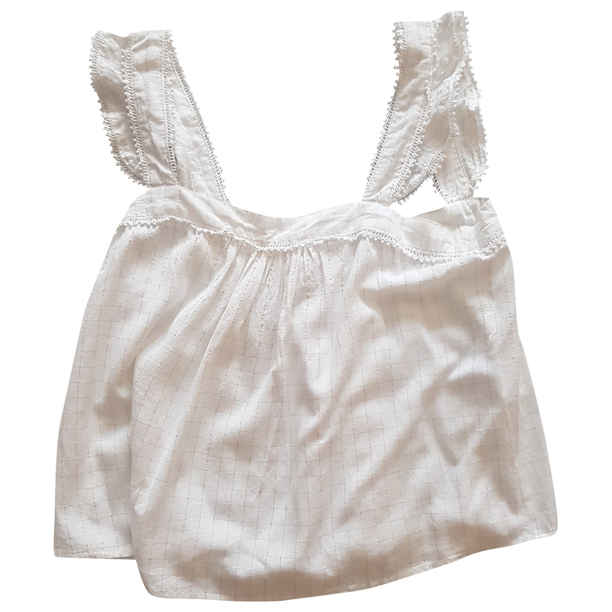 Sezane - Top   pour femme en coton - blanc