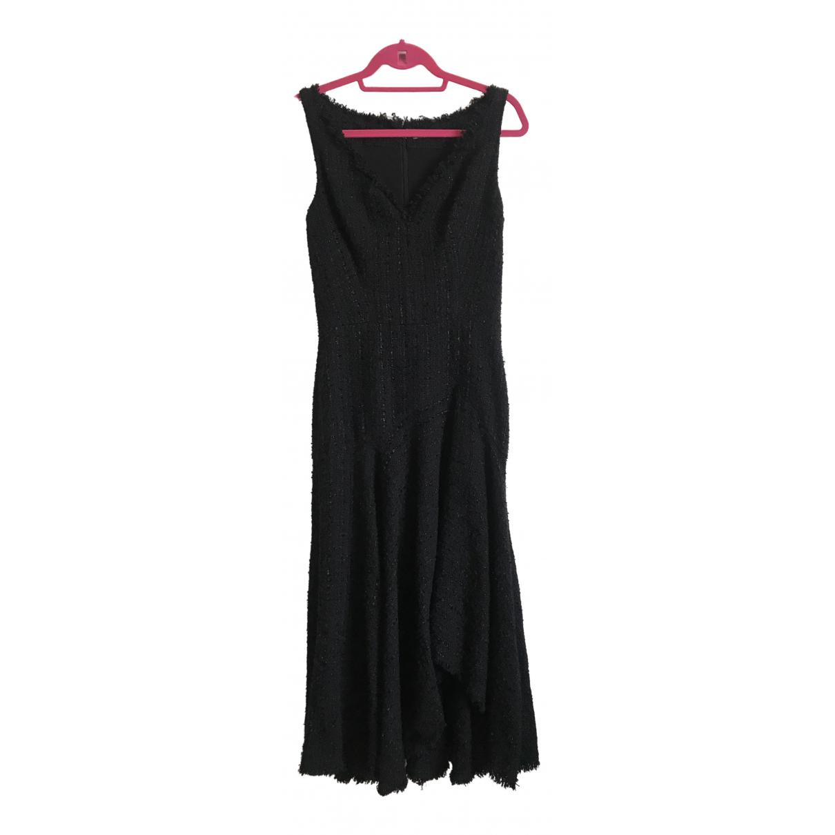 Alexander Mcqueen \N Kleid in  Schwarz Tweed