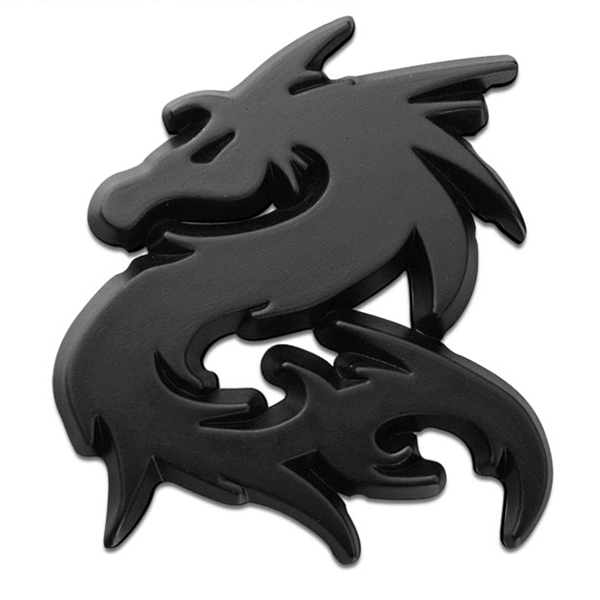 Lucky Dragon Designed Shaped Style And One-Paired Universal Car Sticker