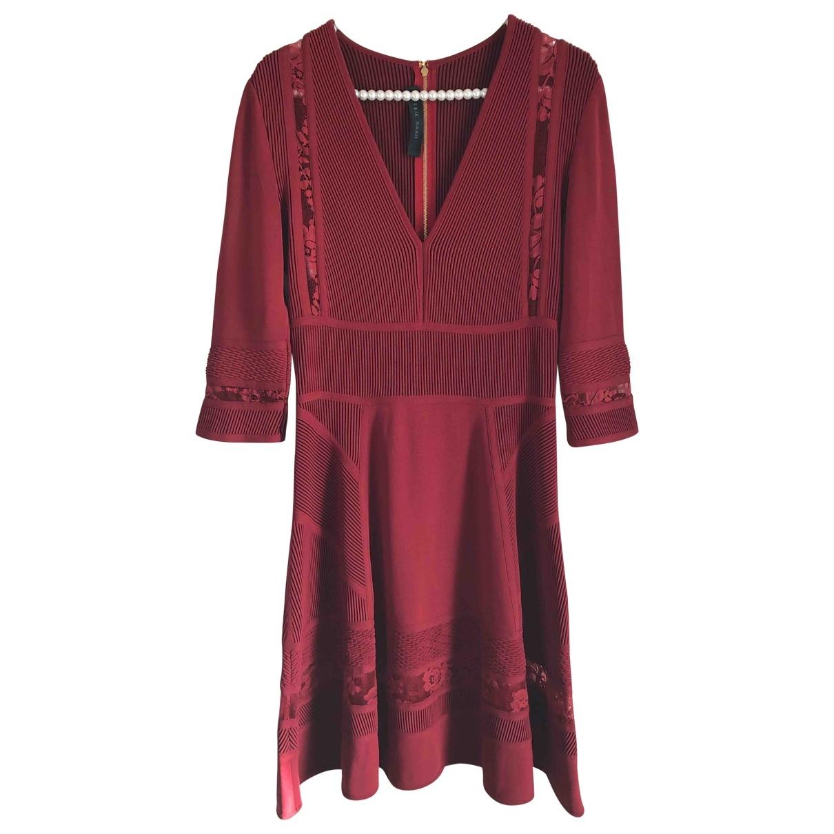 Elie Saab \N Kleid in  Bordeauxrot Viskose
