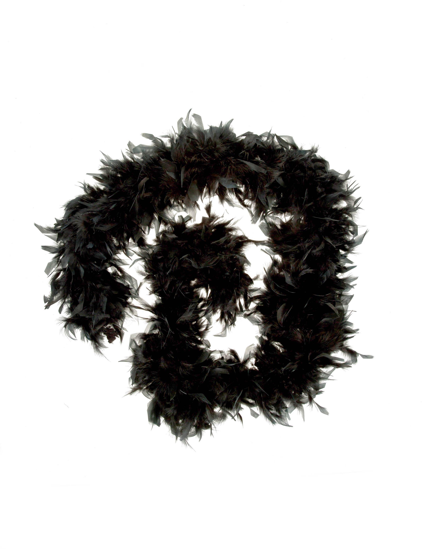 Kostuemzubehor Federboa de luxe schwarz 115g 180cm