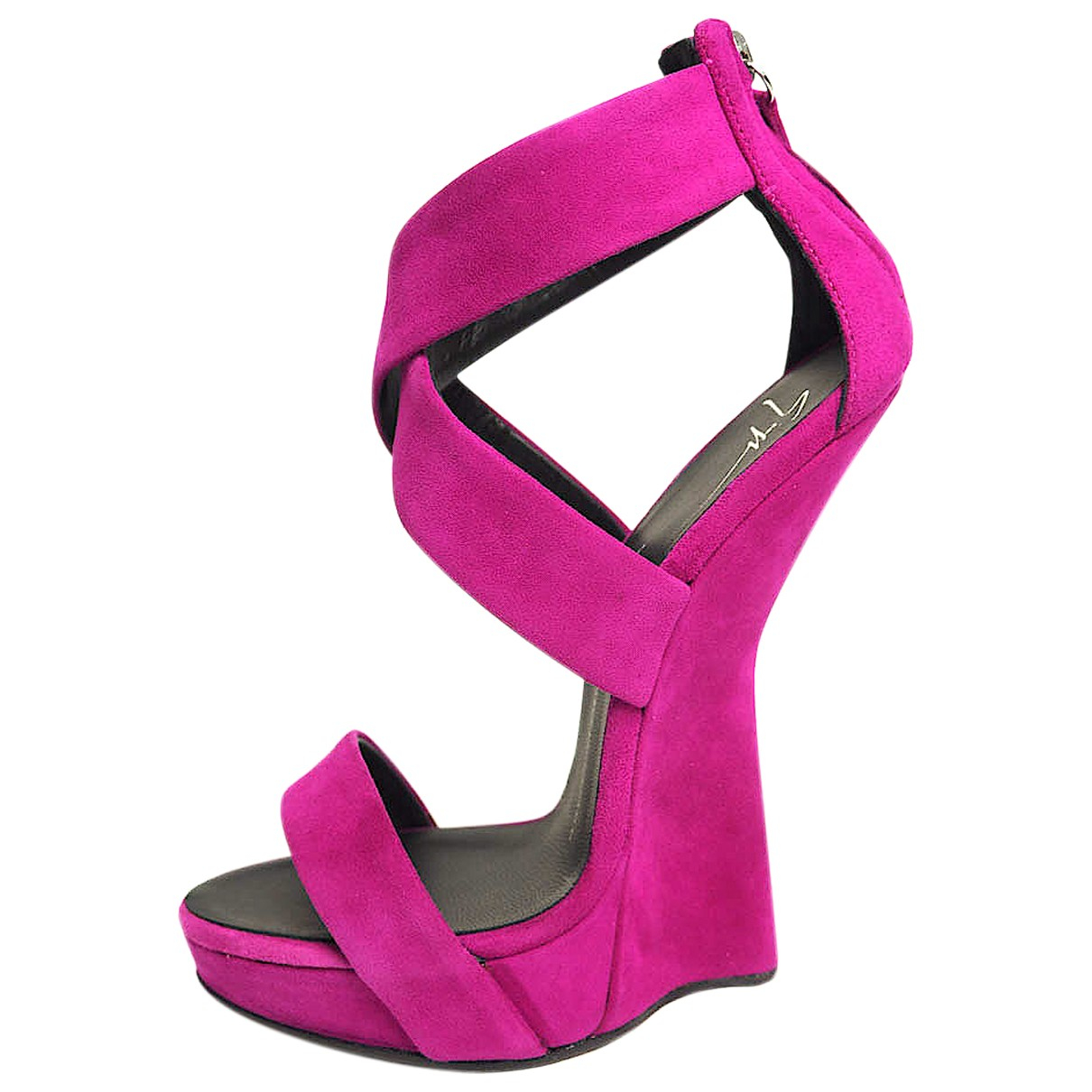 Giuseppe Zanotti N Purple Leather Heels for Women 36 EU
