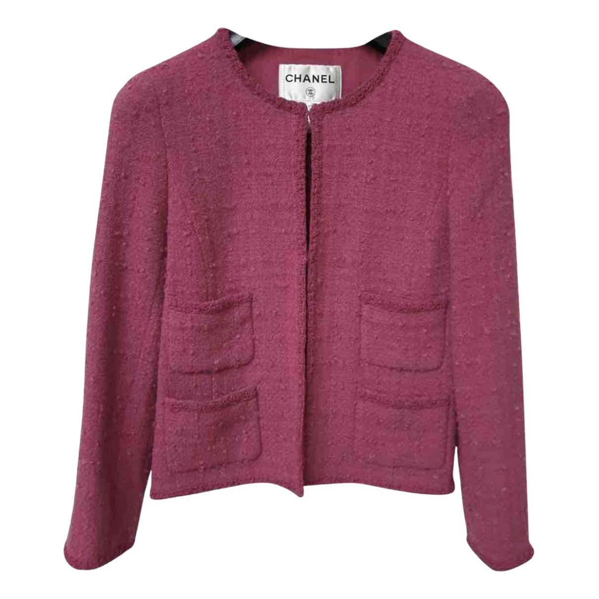 Chanel \N Jacke in  Rosa Tweed