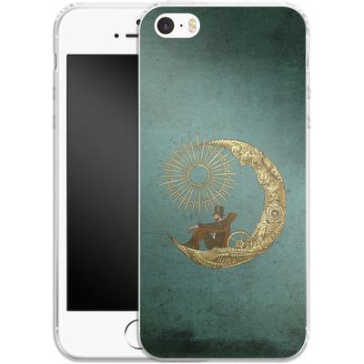 Apple iPhone SE Silikon Handyhuelle - Moon Travel von Eric Fan