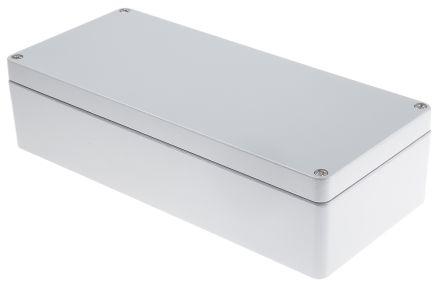 RS PRO Grey Die Cast Aluminium Enclosure, IP66, 360 x 160 x 90mm
