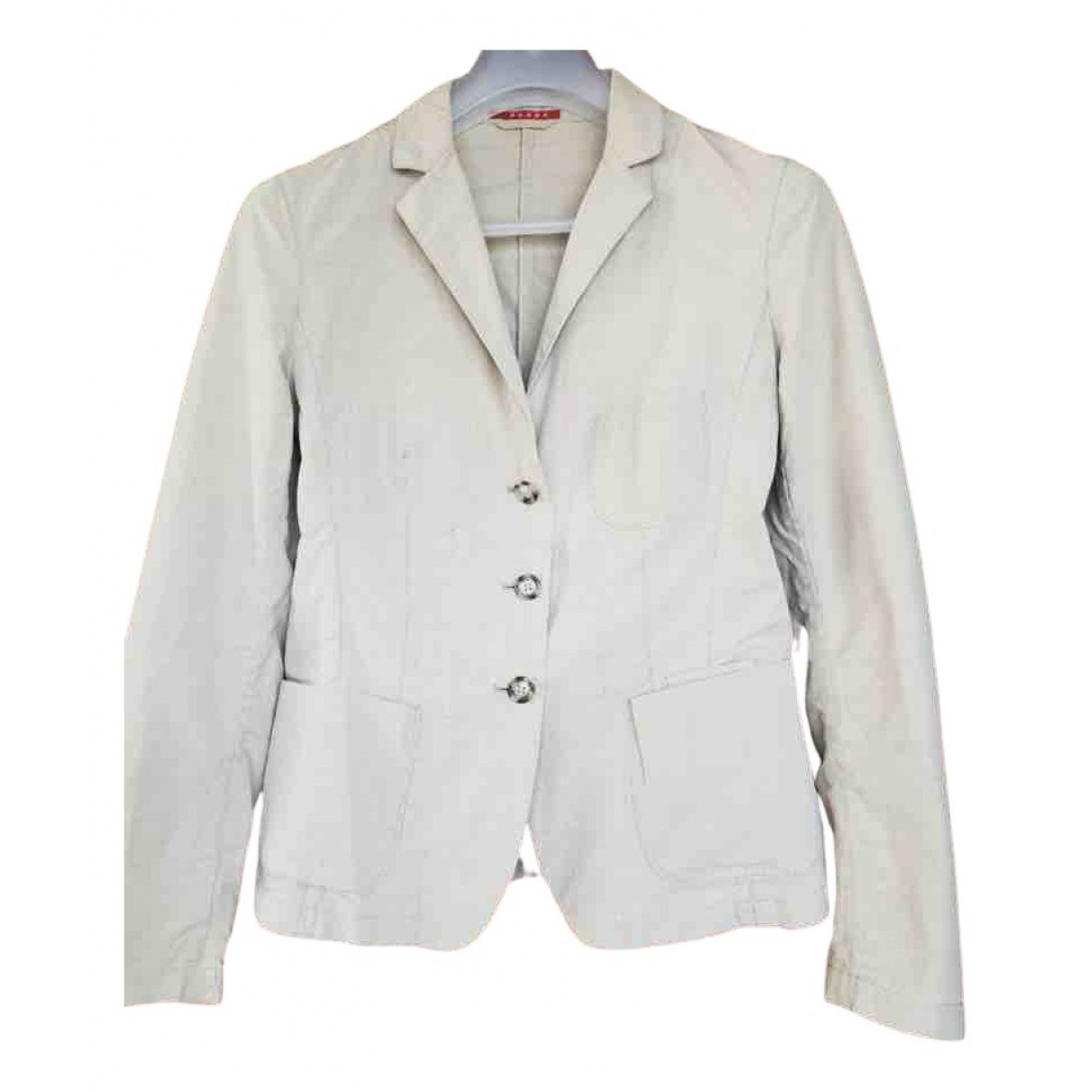 Prada N Beige Silk jacket for Women 42 IT