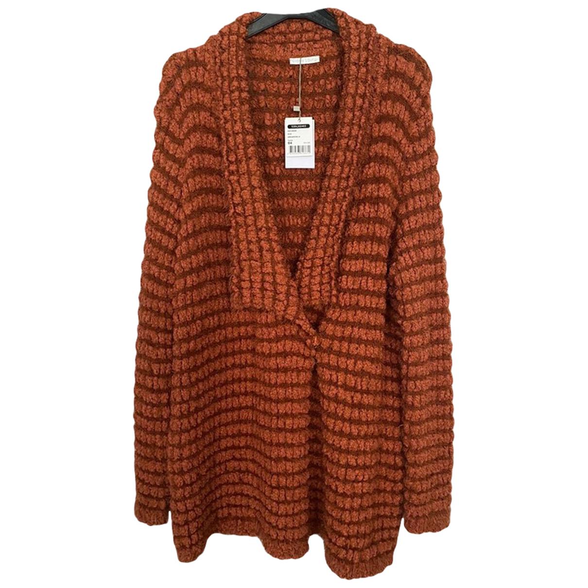 Autre Marque - Pull   pour femme en laine - marron