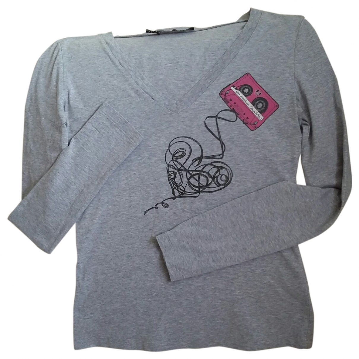Moschino Love \N Grey Cotton  top for Women 46 IT