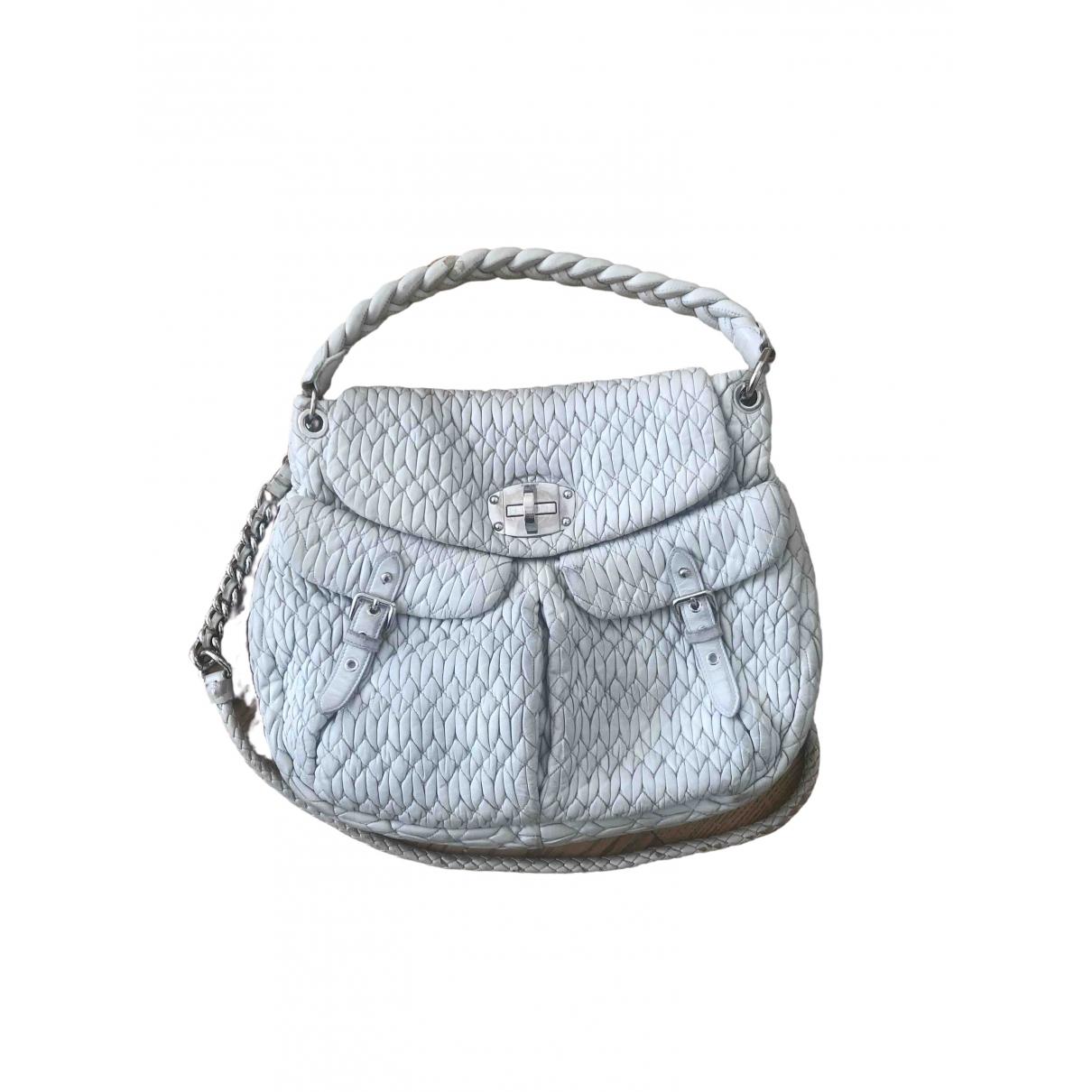 Miu Miu Coffer Grey Leather handbag for Women \N