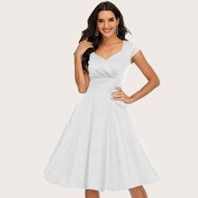 Dressystar Sweetheart Neck Fit & Flare Dress