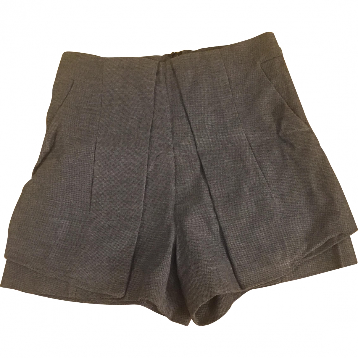 The Kooples \N Grey Cotton Shorts for Women 36 FR