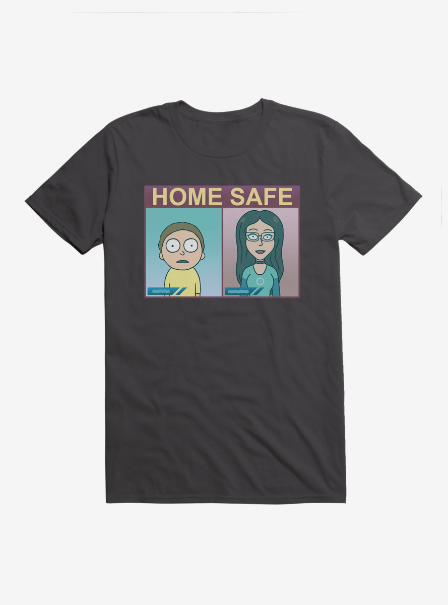 Rick And Morty Home Safe T-Shirt