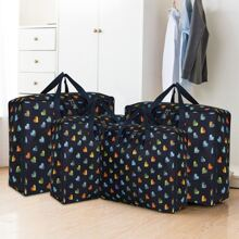 1pc Heart Print Quilt Storage Bag