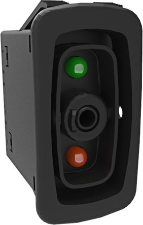Carling Technologies Illuminated Double Pole Single Throw (DPST), (On)-Off-(On) Rocker Switch Panel Mount