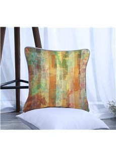 Color Painting Pattern Polyester Decorative Square One Piece Throw Pillowcase
