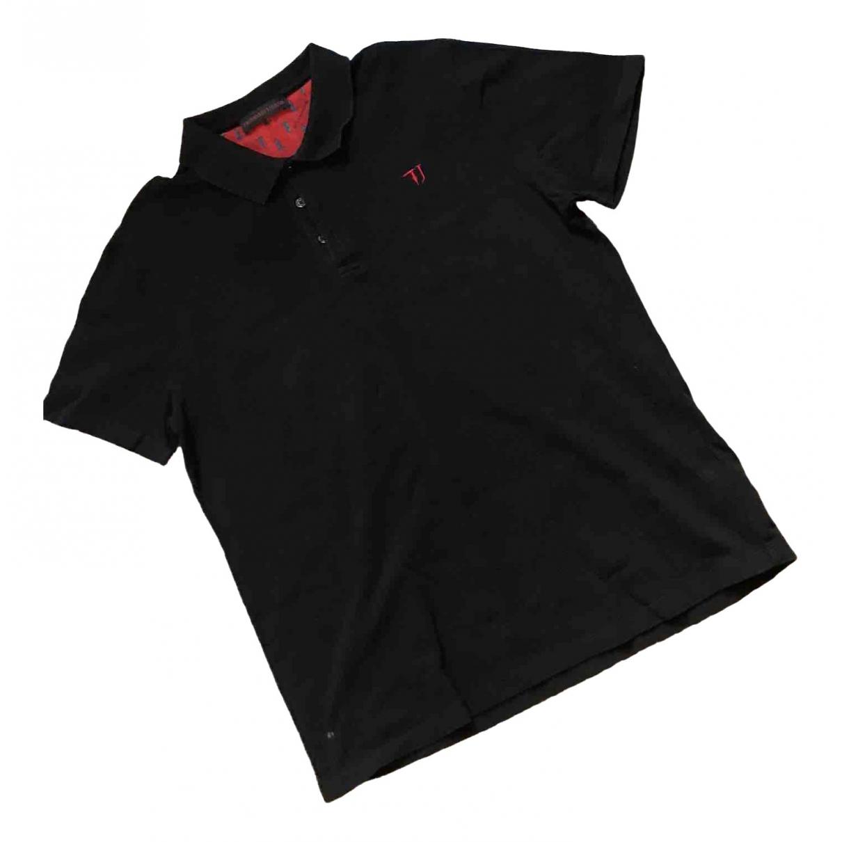 Trussardi - Polos   pour homme en coton - noir