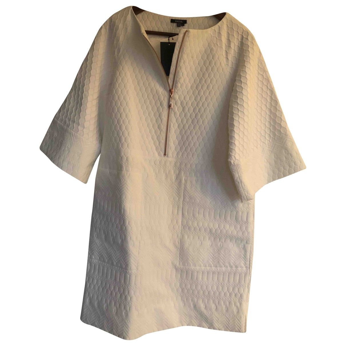 Raoul - Robe   pour femme en coton - blanc