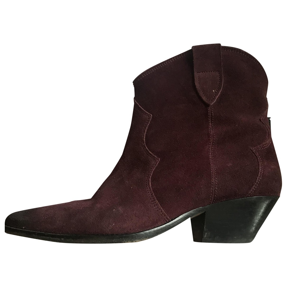 Isabel Marant \N Purple Suede Ankle boots for Women 41 EU