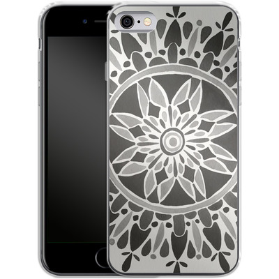 Apple iPhone 6s Silikon Handyhuelle - Mandala Black von Cat Coquillette