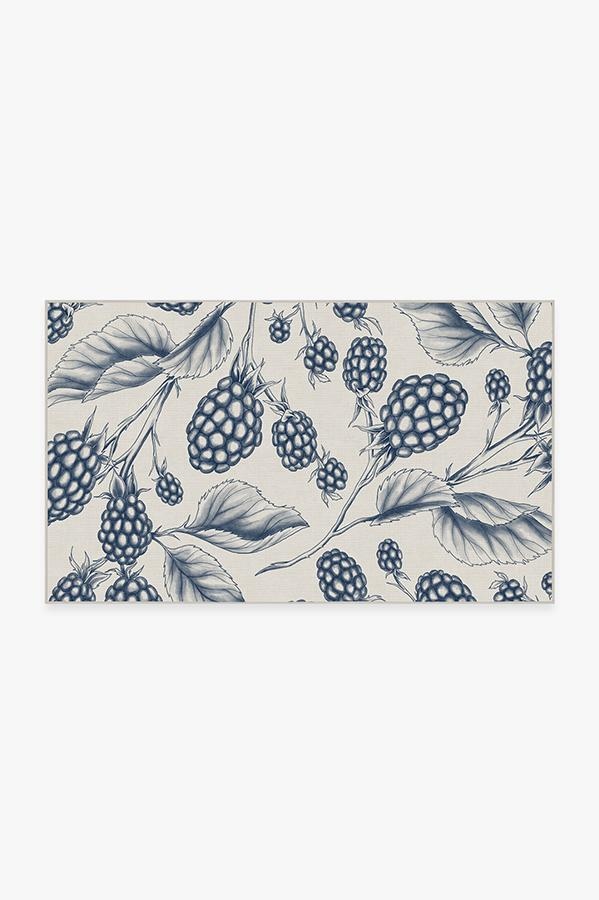 Washable Rug Cover & Pad | Berry Blue Rug | Stain-Resistant | Ruggable | 3'x5'