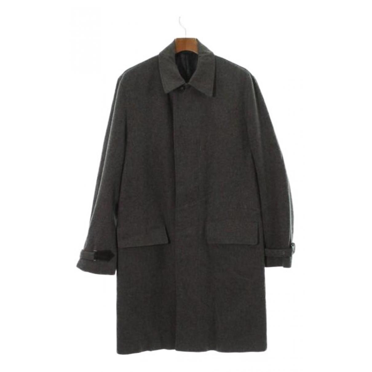 Hermes - Manteau   pour homme en laine - gris