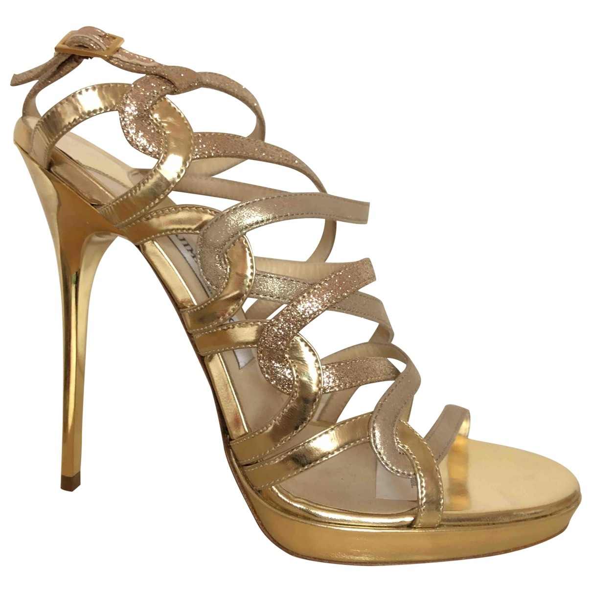 Jimmy Choo \N Gold Leather Sandals for Women 39 EU
