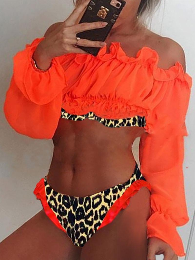 Ericdress Color Block Print Sexy Swimwear
